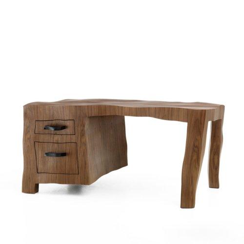 Maarten Baas - Sculpt Veneer Desk - Prototype