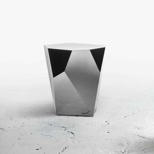 Alexander Lotersztain - QTZ Side Table – Polished