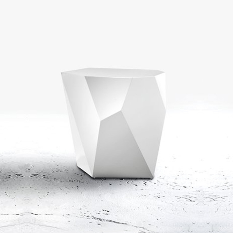 Alexander Lotersztain - QTZ Side Table – White
