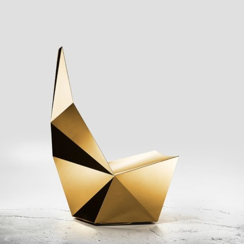 Alexander Lotersztain - QTZ Swivel Base Lounge Chair – Gold