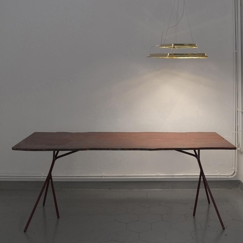 Francesco Meda - Split Table – Red Rupas Marble