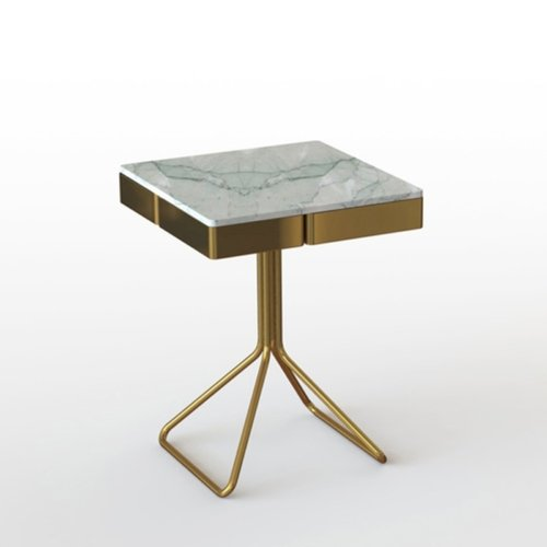 Francesco Meda - Top Secret Coffee Table – Verde Mediterraneo Marble
