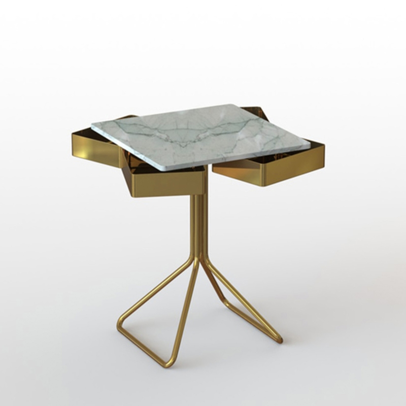 Francesco Meda - Top Secret Coffee Table – Verde Mediterraneo Marble