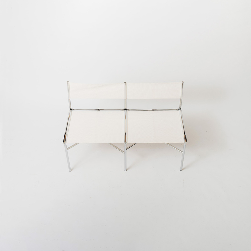 Laurence Humier - Meeting Chairs – 2 Seats – Batyline – White