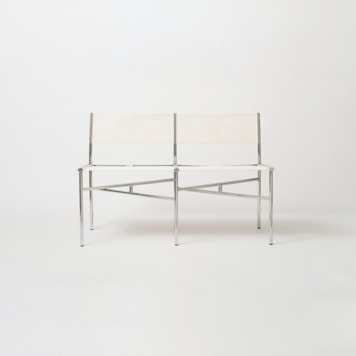 Laurence Humier - Meeting Chairs – 2 Seats – Batyline – White