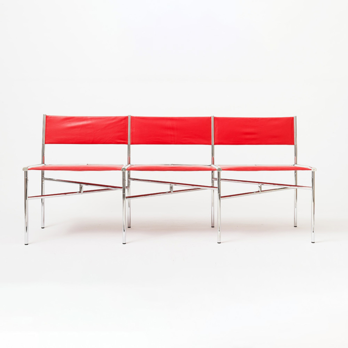 Laurence Humier - Meeting Chairs – 3 Leather Seats