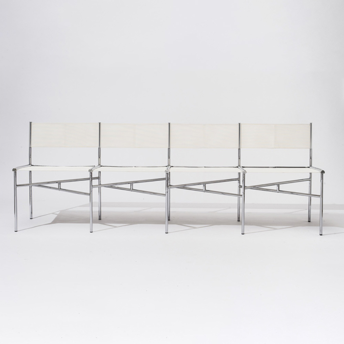 Laurence Humier - Meeting Chairs – 4 Seats – Batyline – White