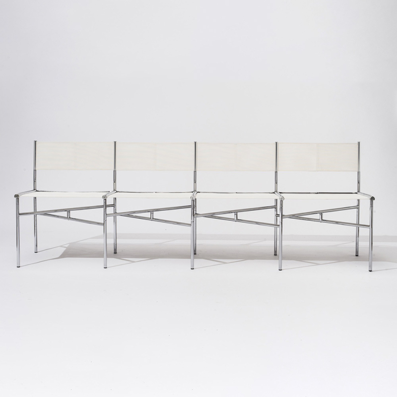 Laurence Humier - Meeting Chairs – 4 Seats – Batyline – White