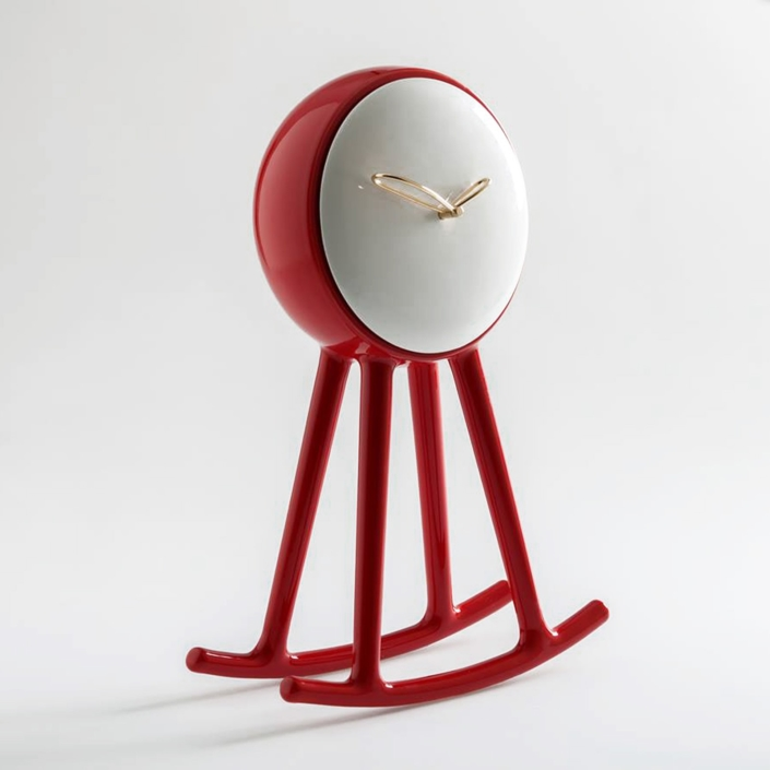 Nika Zupanc - Infinity Clock - Red and White - for Bosa Ceramiche