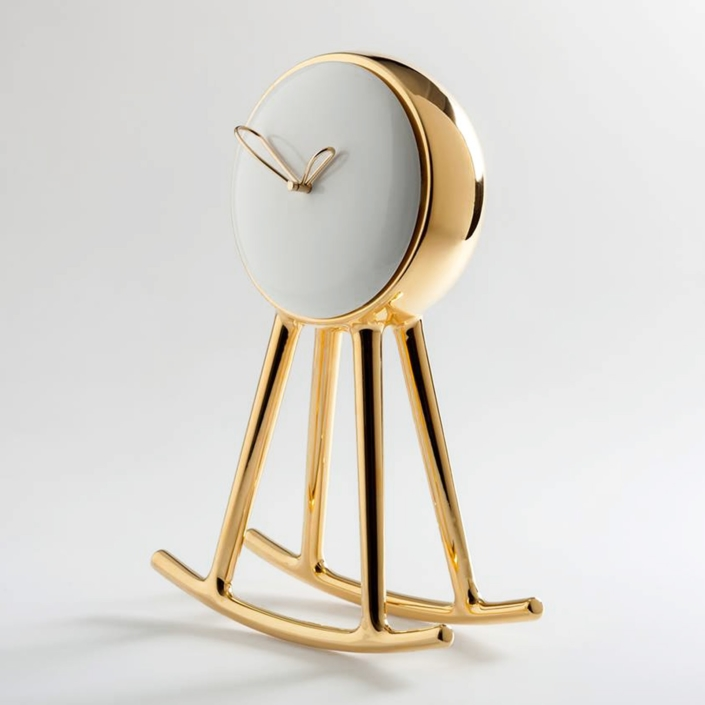Nika Zupanc - Infinity Clock - Gold and White - for Bosa Ceramiche