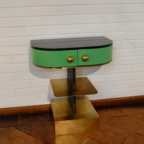Rooms - Sculpture Side Table - Green