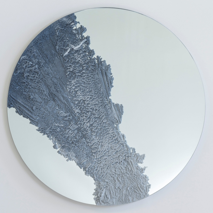 Fernando Mastrangelo - Untitled 01 - Blue and Clear Drift Mirror
