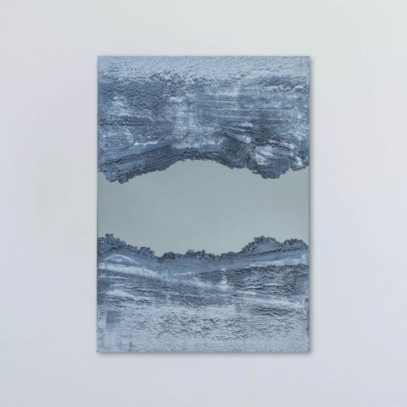 Fernando Mastrangelo - Untitled 03 – Blue and Grey Drift Mirror