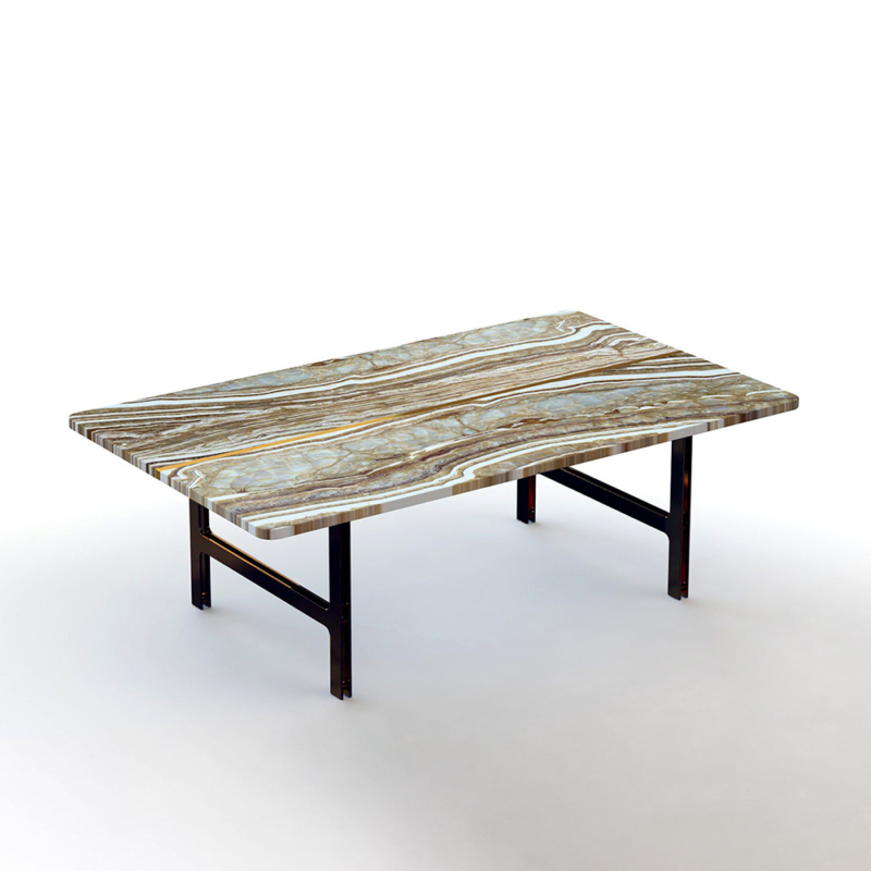Francesco Meda - Split Coffee Table – Onyx Tiger Marble