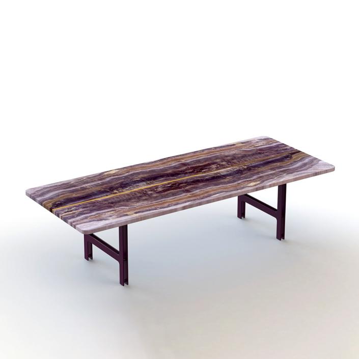 Francesco Meda - Split Coffee Table – Onyx Violet Marble