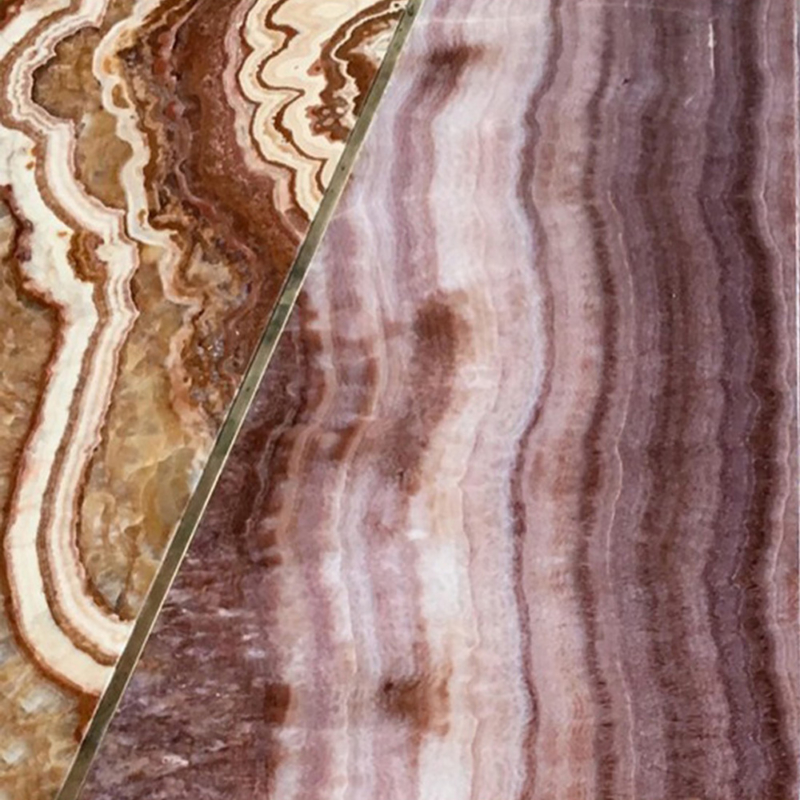Francesco Meda - Split Table – Onyx Violet Marble