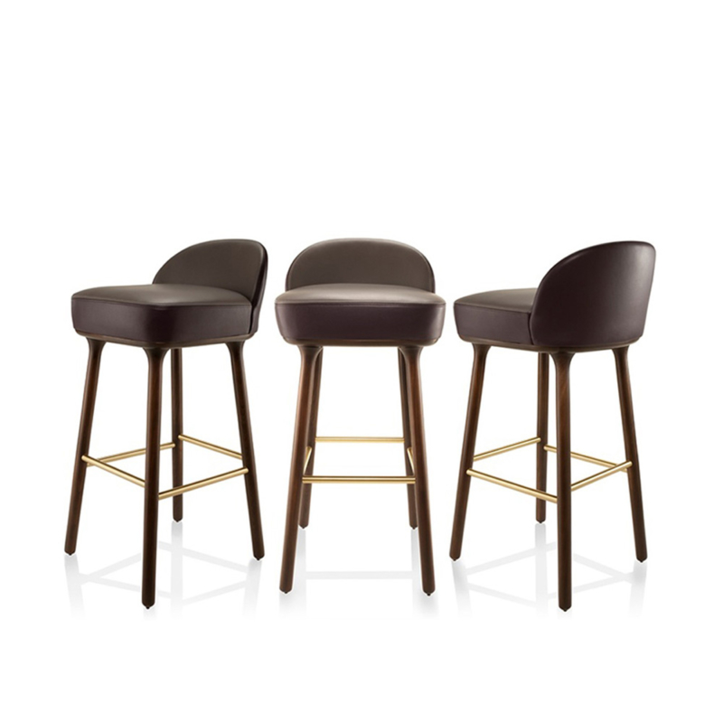 Jaime Hayon for Sé - Beetley Bar Stool - Oak Legs