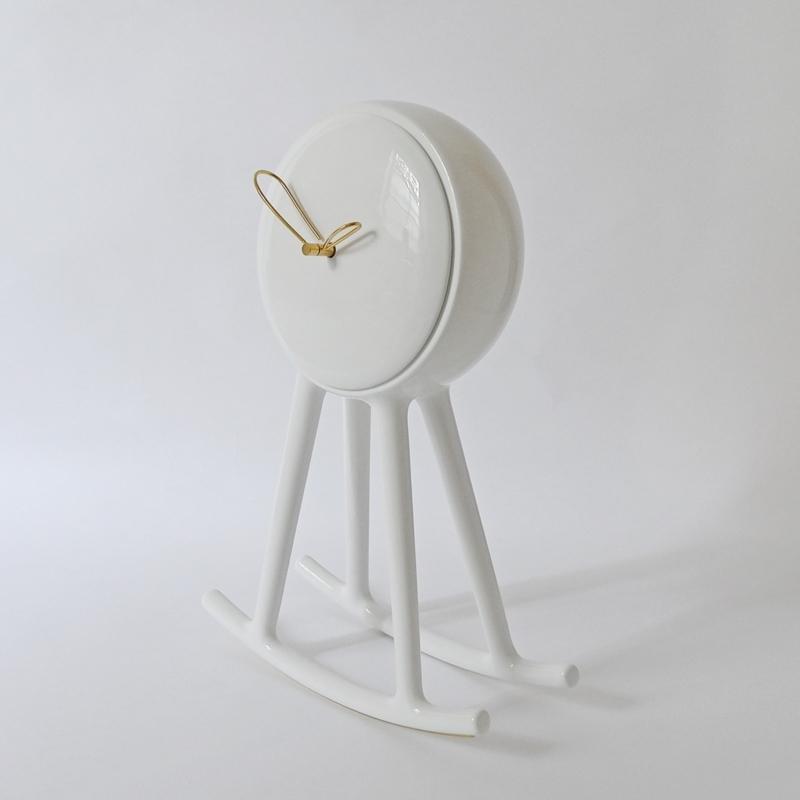 Nika Zupanc - Infinity Clock - White - for Bosa Ceramiche