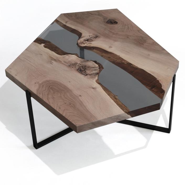 Alcarol - Crystal Walnut Low Table