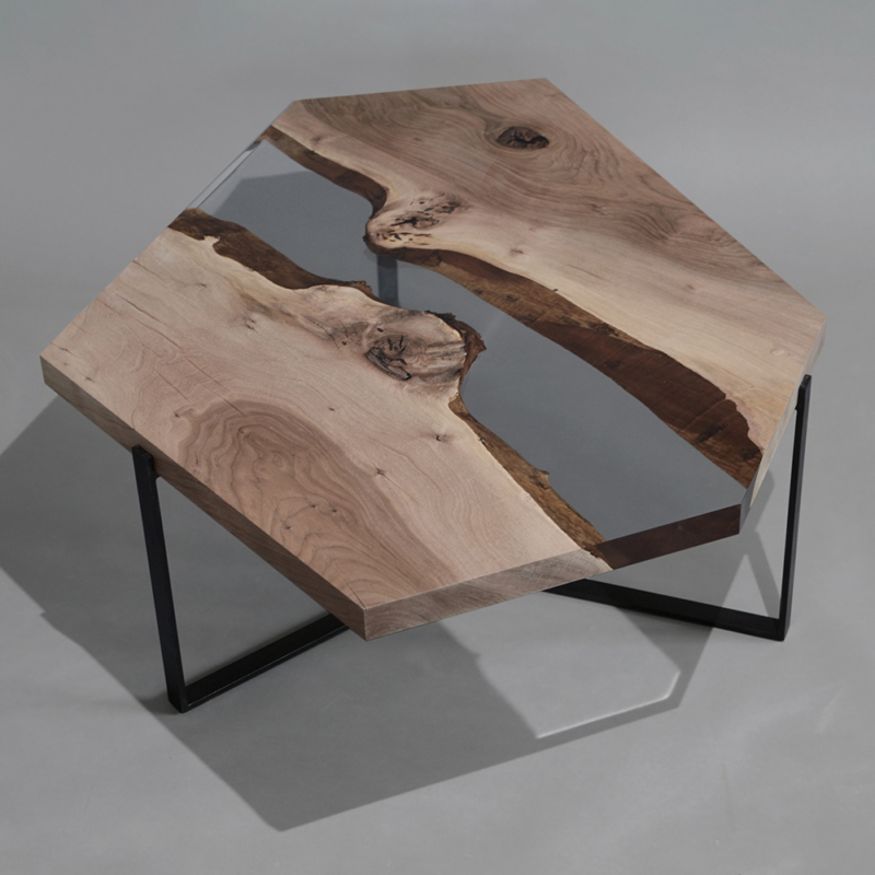 Alcarol - Crystal Walnut Low Table