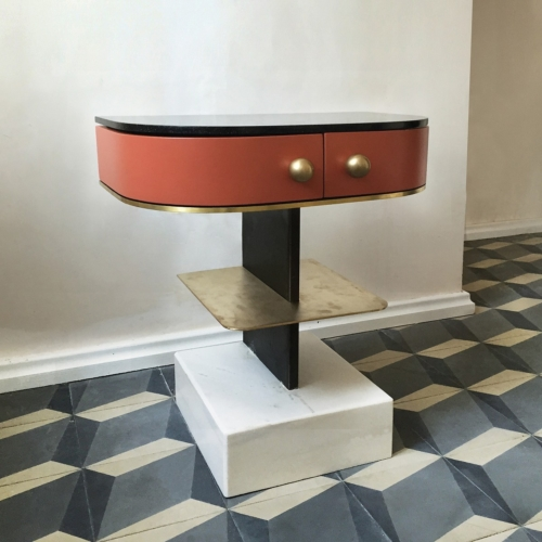 Rooms - Sculpture Side Table - Red