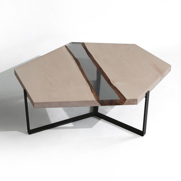 Alcarol - Crystal maple low table
