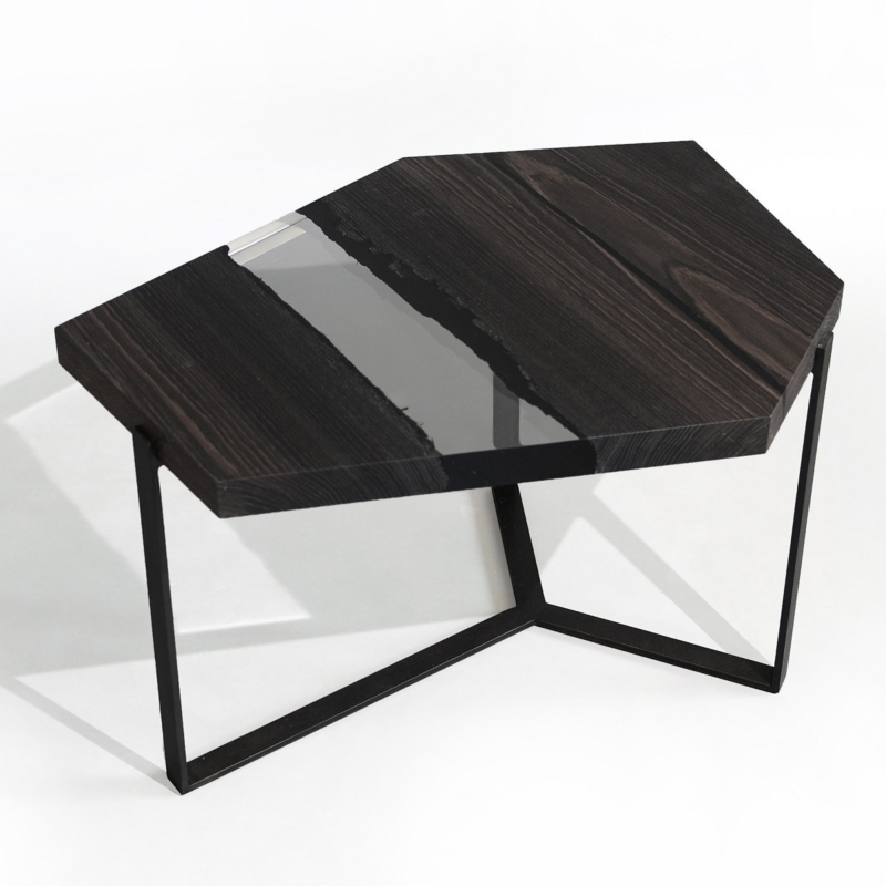 Alcarol - Crystal peatwood low table