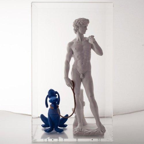 G+G - David di Michelangelo (Pluto blue Klein)