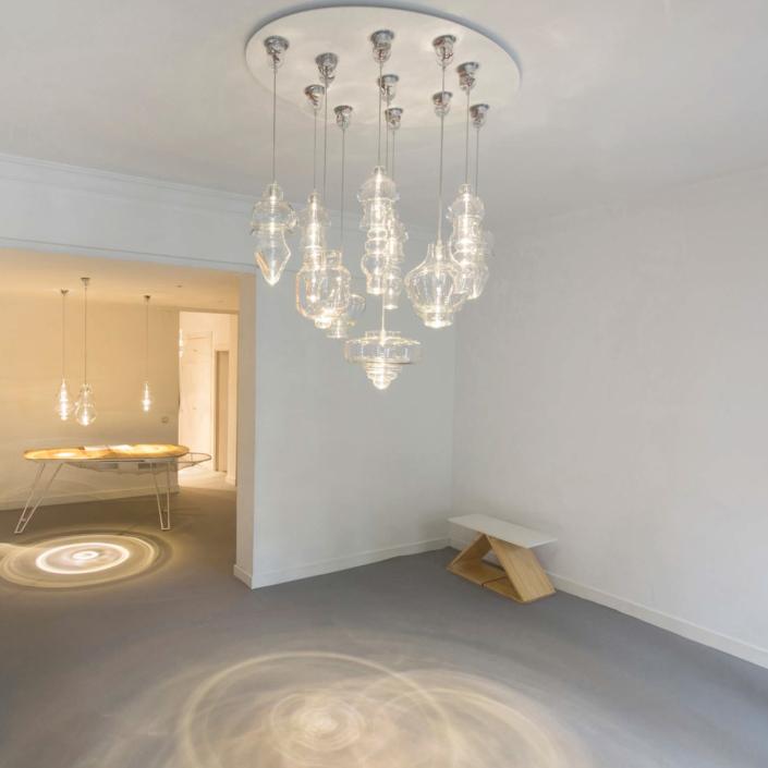 Mayice studio - RFC Blown Glass Chandelier 13 lights