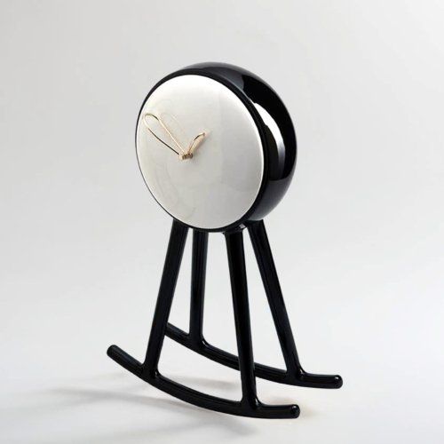 Nika Zupanc - Infinity Clock - Black and White - for Bosa Ceramiche