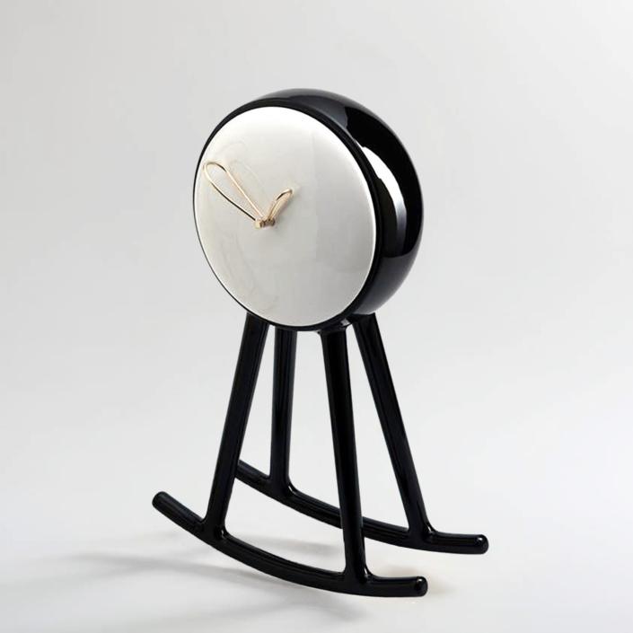 Nika Zupanc - Infinity Clock - Black and White - for Bosa Ceramiche