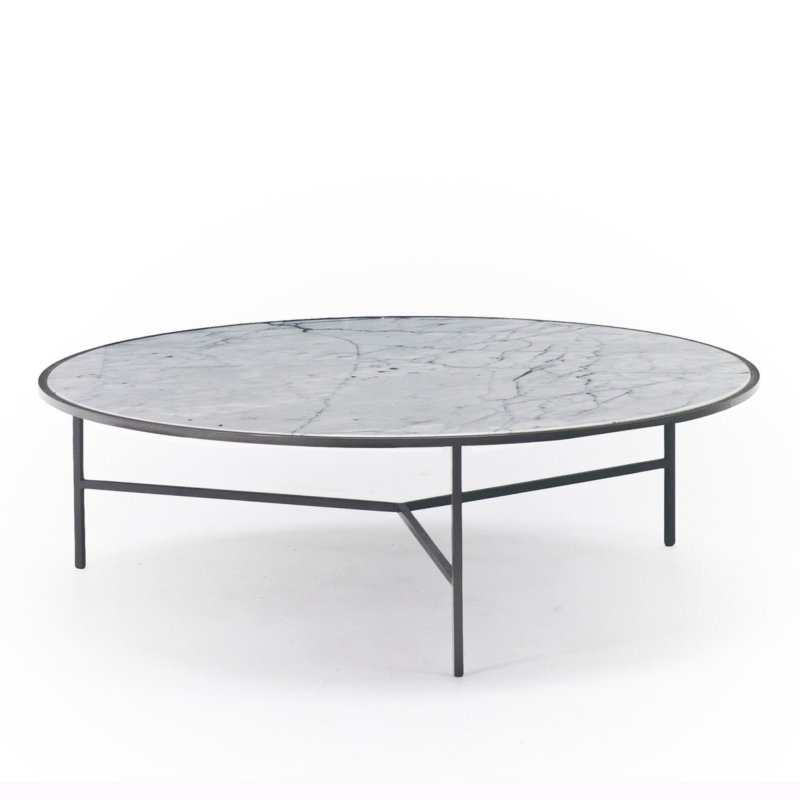 Nika Zupanc - Smoke Table - Ø 100cm - Lacquered 7012 - for Sé