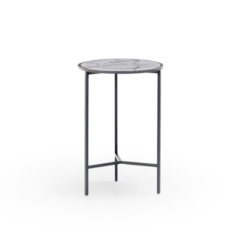 Nika Zupanc - Smoke Table - Ø 30cm - Lacquered 7012 - for Sé