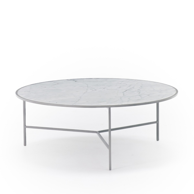 Nika Zupanc - Smoke Table - Ø 80cm - Lacquered 7036 - for Sé