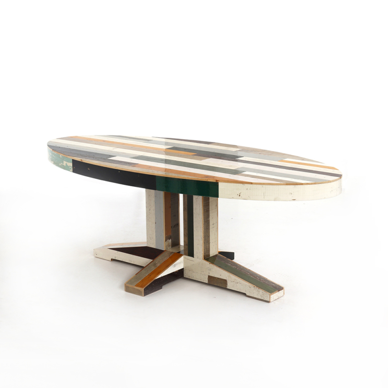 Piet Hein Eek - Canteen Table in Scrapwood - Oval