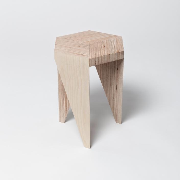 Alvaro Catalan de Ocon - Rayuela Plywood stool
