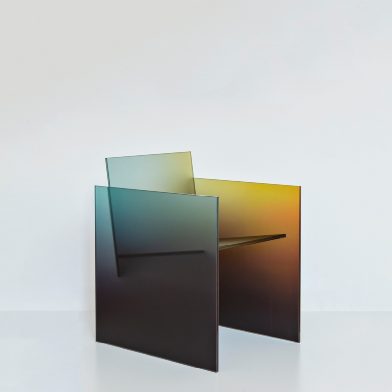 Germans Ermics - Frosted Ombré Glass Chair