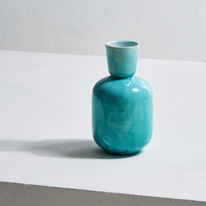 Milan Pekar - Cup Crystal Vase Turquoise