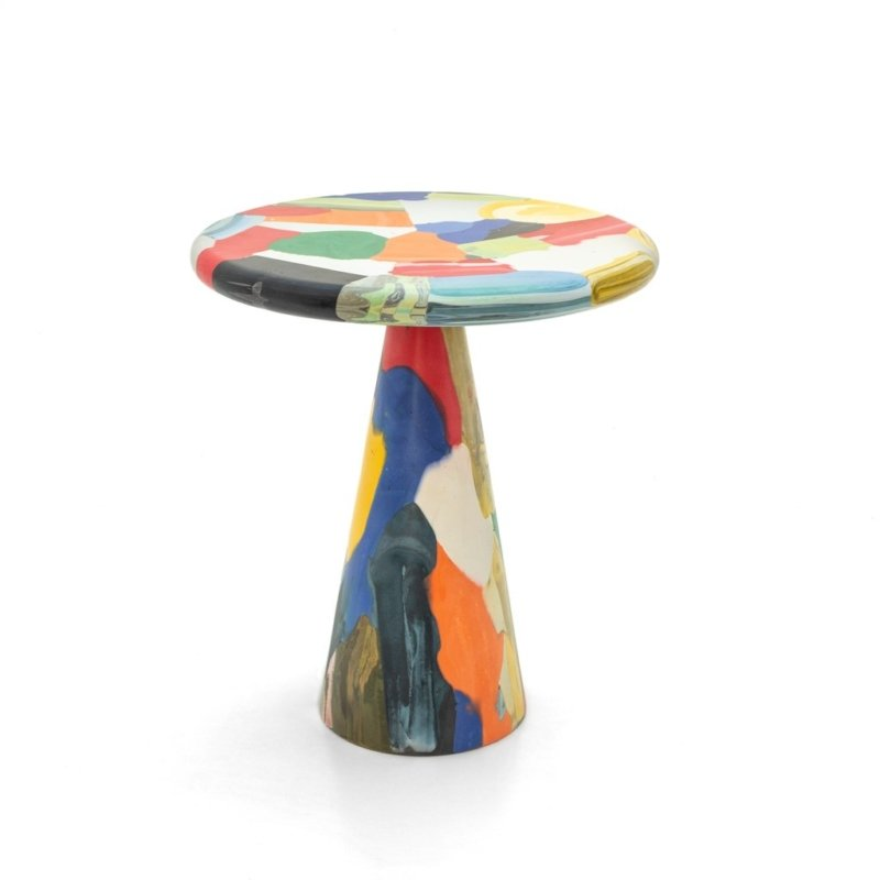 Dirk Vander Kooij - meltingpot multichrome side table