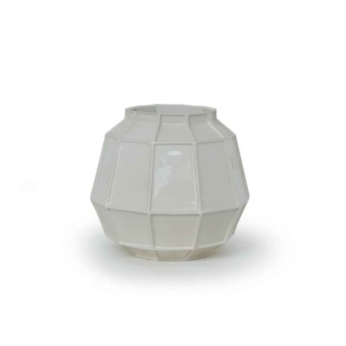 Piet Hein Eek - Facet vase middle white