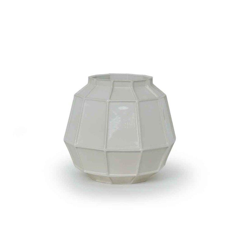 Piet Hein Eek - Facet vase middle white