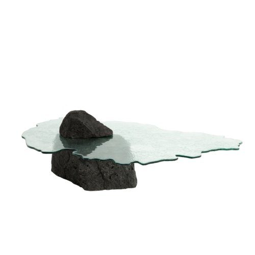 Cypraea - Ile Maurice low table in lava stone