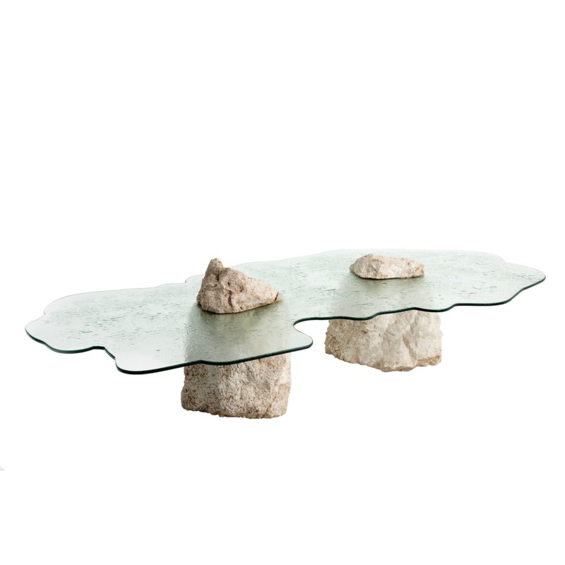 Cypraea - Ile Rodrigues low table in coral stone