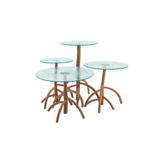 Cypraea - Mangrovia Low Table Walnut set