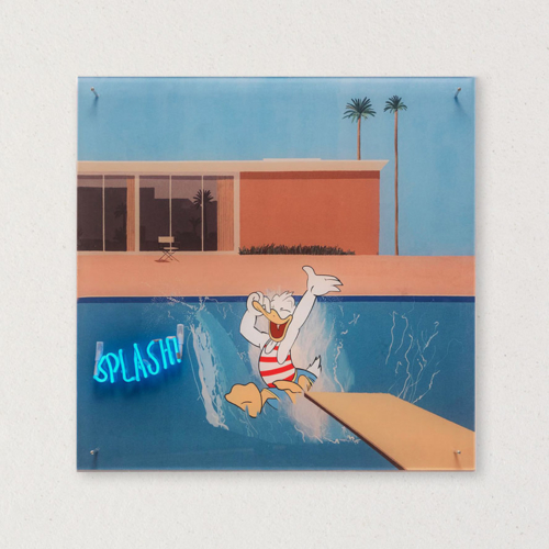 G+G - Splash / A Bigger Splash - David Hockney / Paperino