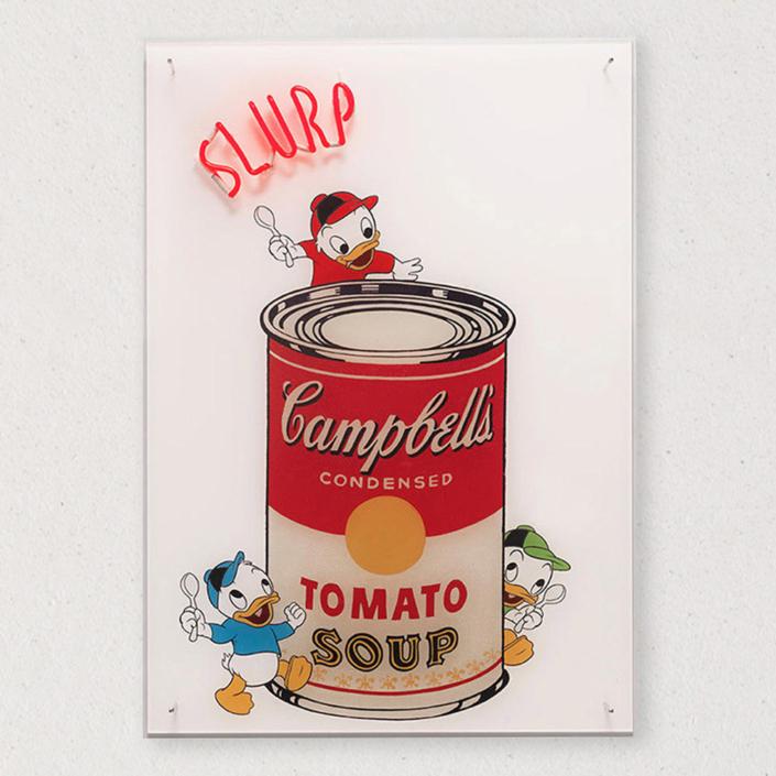 G+G - Slurp / Campbell's Soup Cans - Andy Wharol / Qui Quo Qua