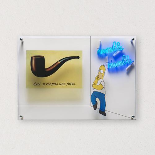 G+G - Mumble mumble / Ceci n'est pas une pipe - Magritte / Homer Simpson