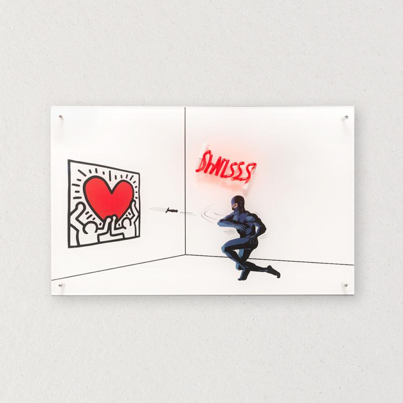 G+G - Swiss / Heart - Keith Haring / Diabolik