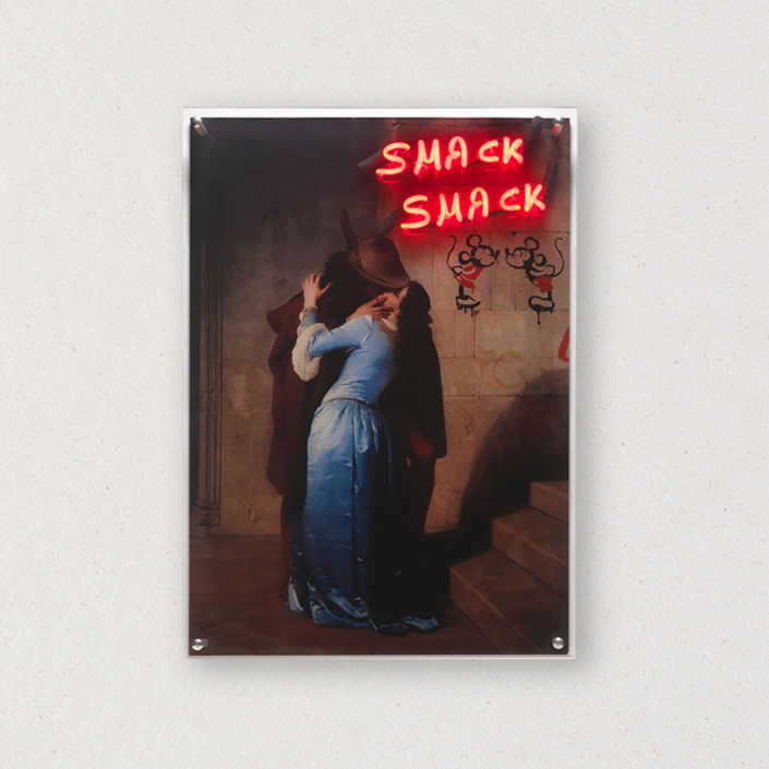 G+G - Smack smack / Il bacio - Francesco Hayez / Topolini - Banksy