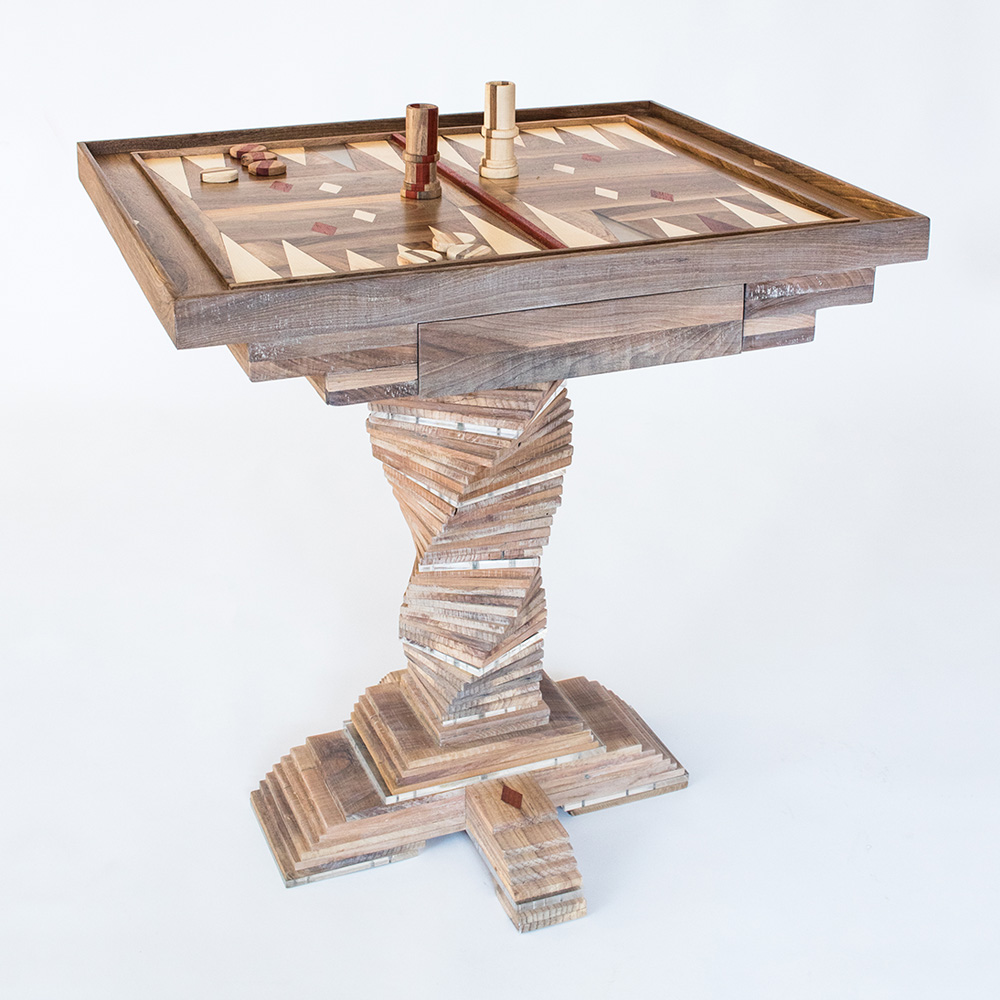 Hillsideout - Backgammon Tea Table